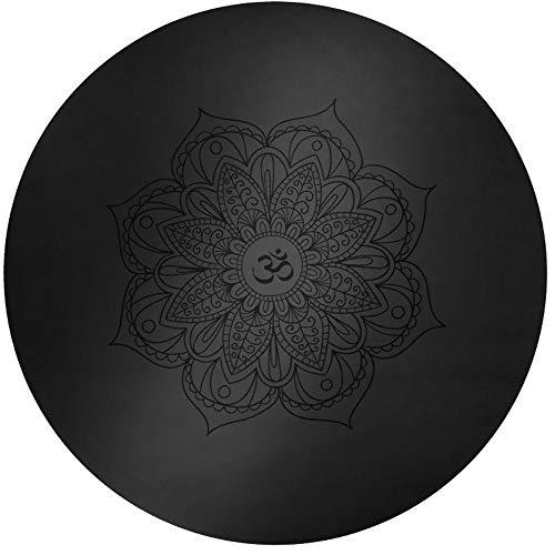 KOXG-S Alfombra de Yoga Pequeña Y Redonda PU Estera De Yoga Antideslizante Meditación Redonda Baja Impresa Esterilla De Meditación Estera Manta Esteras