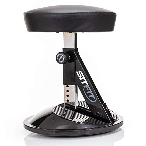 Sit 360 Adjustable Wobble Stool Office Desk Balance Chair with Footrests - Rocks, Wobbles & Engages...