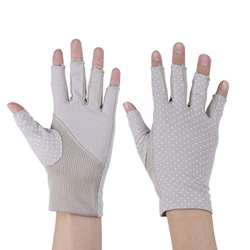 Healifty Sunblock Halbe Fingerhandschuhe Leichte Fingerlose Handschuhe Sonnenschutz-Fahrhandschuhe Sommerhandschuhe für Frauen
