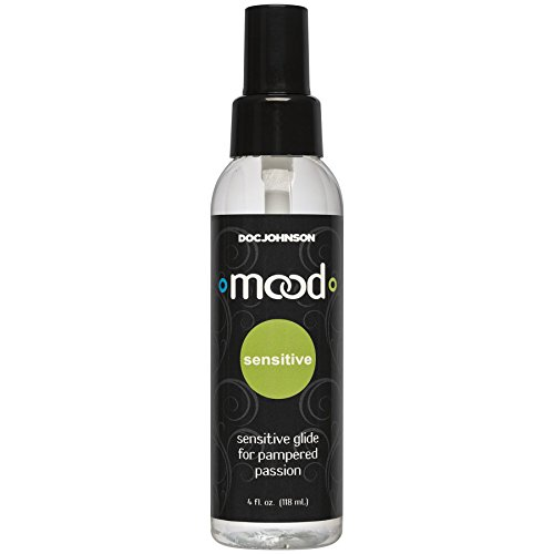 Doc Johnson Mood - Sensitive Glide - Safe for Sensitive Skin - Long Lasting - Compatible With All Condoms and Toys - 4 fl oz (118 ml)