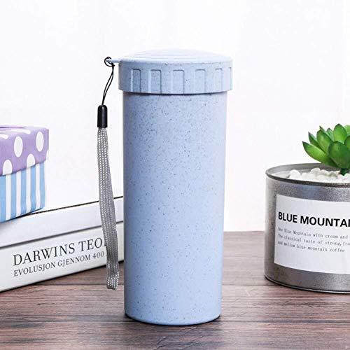 CS-BWP Paille de blé Tasse d'eau de Protection de l'environnement à la Maison, au Bureau, en Plein air Voyage Portable Thé, café Tasse de café, Bleu, Taille Unique