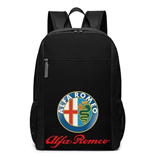 BAOQIN Syins Alfa Romeo Logo Mochilas, 17 pulgadas Mochilas al aire libre para hombre y mujer