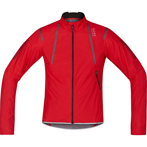 Gore Bike WEAR Herren Rennrad-Jacke, Super Leicht, Kompakt, Gore Windstopper, Oxygen WS AS Light Jacket, Größe: XL, Rot, JWAOXY