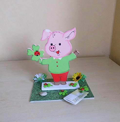 Geldgeschenk zum Geburtstag - Glücksschwein