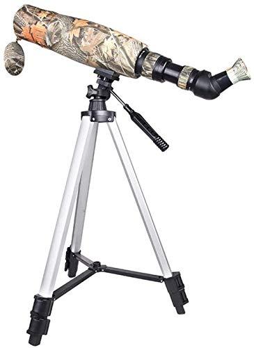 ZHCJH HJTLK 15-45x60 HD a Prueba de Agua con trípode y Adaptador de teléfono y Estuche de Transporte telescopio con Ocular en ángulo de 45 Grados BAK4 para Reloj de Aves de astronomía Objetivo