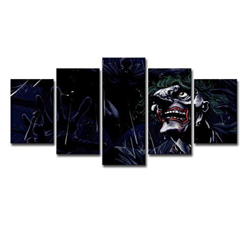 zhoudreamteam Comic-Kunst mit 5 Brettern Batman-Heldclownheldnachtausgangsdekorationsmalerei