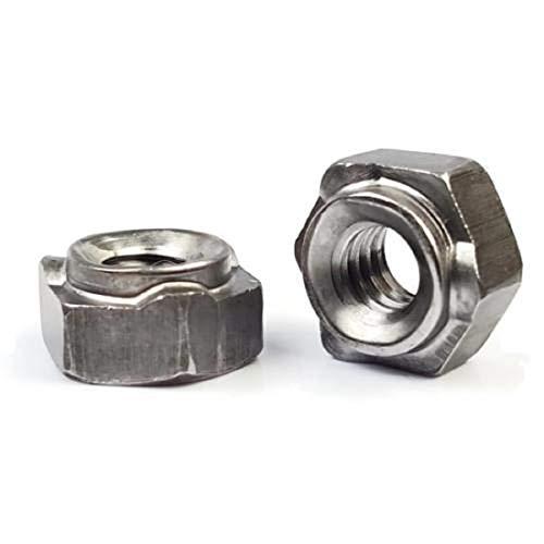 Metric Hex Weld Nuts Plain Steel Long Pilot 3 Projections M8-1.25 QTY 25