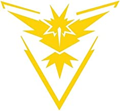 Pokemon Go - Team Yellow (Instinct) Decal Stickers for Car/Truck/Laptop (4.5