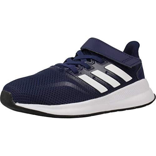 adidas RUNFALCON C, Scarpe da Corsa Unisex-Bambini, Dark Blue/Ftwr White/Core Black, 28 EU