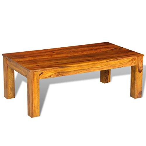 vidaXL Tavolino per Caffè Legno Massello di Sheesham 110x60x40 cm Salotto