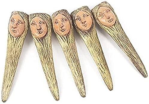 TANKKWEQ Decoración de Halloween 10 Piezas de Zombie Bruja Fake Nail Set Halloween Decoración Masquerade Uñas de Halloween Party Decoration Props