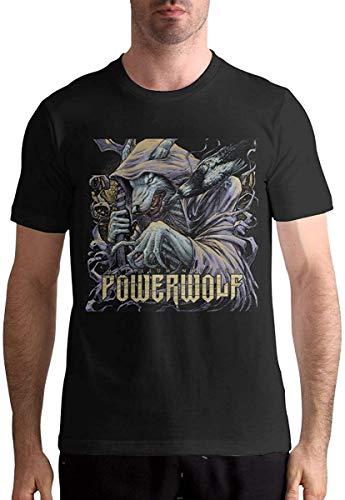 Powerwolf Metallum Nostrum Men's Fashion Casual Short Sleeve T Shirt,Black,Medium