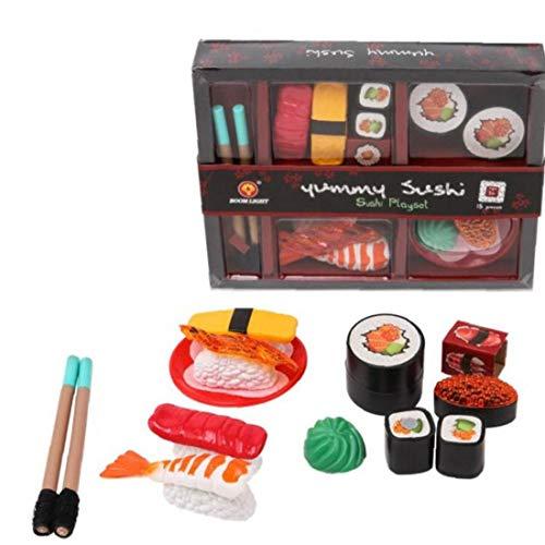 'S Sushi da gioco per bambini Toy Set da cucina finge i giocattoli del pranzo per il pranzo regalo Janpa Sushi Mini alimentari Ornament regolato giocattoli Toy Box vacanze