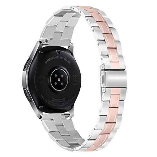 Galaxy Watch 3 Banda de 45mm, BFISOD 5.0??'-8.6' Banda de Reloj de Acero Inoxidable Ajustable 22mm Pulsera de Repuesto Compatible con Galaxy Watch 46mm/Gear S3 Frontier/Classic (A02)