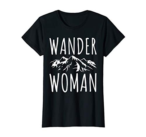 Damen WANDER WOMAN T-Shirt Berg Frauen Trekking Urlaub Geschenk T-Shirt