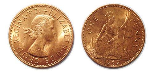 Monete da collezione - 2 One monete penny dal 1967