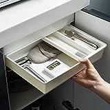 MUY Caja de Almacenamiento de cajones de Estilo japonés Caja de Almacenamiento de Escritorio cajón de Escritorio Debajo de la Mesa sin perforación fon