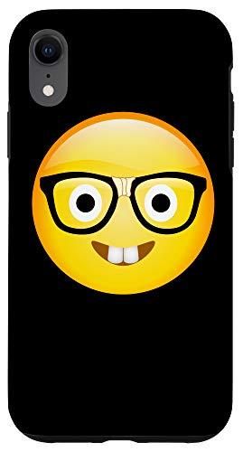 iPhone XR Funny Geek With Eye Glasses Emojis - Nerd Gift Idea Case