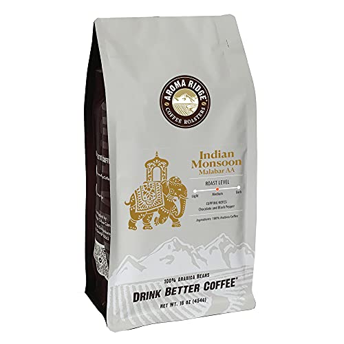 Indian Monsoon Coffee, 1 lb Whole Bean Valve Bag