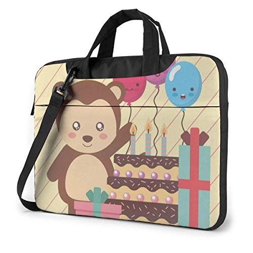 Cute Animal Laptop Sleeve Case 15.6 Inch Computer Tote Bag Shoulder Messenger Briefcase for Business Travel