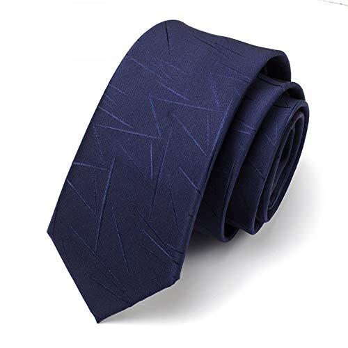 Xzwdiao Krawatten Herren Formelle Kleidung Krawatte Business Hemd Kleinen Blauen Reißverschluss College-Stil, 18 (Dunkelblaues Unregelmäßiges Muster) (Hände Zu Zahlen)