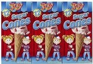 Joy Sugar Cones Ice Cream Cones (Pack of 3)