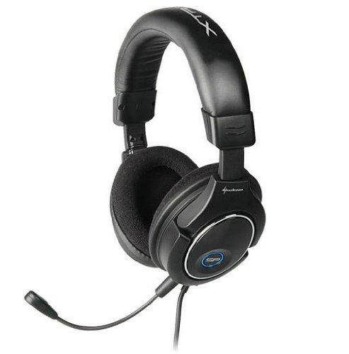 Sharkoon X Tatic SP - Auriculares con micrófono extraíble y Cable RCA para Ordenador, Xbox y Playstation (Incluye Adaptador)