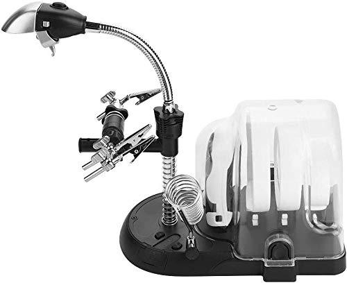 Dsnmm Grote Vergrootlamp, Multi-Functie 2.5X 5X 16X Hulpclip LED Lamp 2 in 1 Handheld en Bureau Licht Desktop Vergrootglas Station met Stand voor Welding, Hobby's, Ambachten, Werkbank