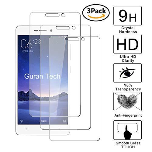 Guran [3 Pezzi] Pellicola Protettiva per Xiaomi Redmi 3 / Redmi3 PRO Smartphone Ultra Sottile Screen Protector in Vetro Temperato Film Ultra Resistente