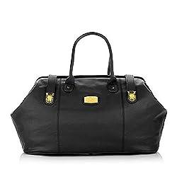 professional Genuine Leather JOY Designer Travel Bag-Black