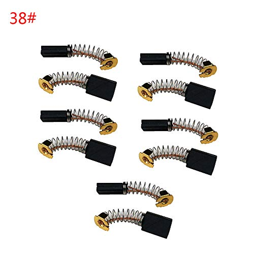 Kohlebürsten für elektrische Motor-Reparaturteile, Ersatzteile für elektrische Winkelschleifer, 10 Stück