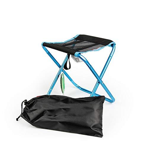 Faonl klapstoel voor buiten, inklapbaar, ultralicht, draagbaar, van aluminiumlegering, eenvoudige klapstoel om te kamperen, blauw