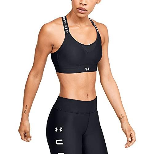 Under Armour Women's UA Infinity High Sports Bra , Black (001)/White , Medium