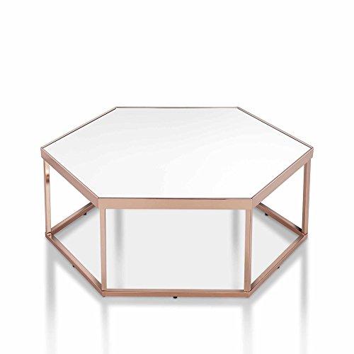 Ottmar glazen metalen frame Coutsch tafel, bank tafel met modern design (afbeelding is gespiegeld/glas) met metalen kop koffietafel nieuwe A0016935DE