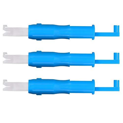 iSuperb 3 Piezas Enhebrador Automático Insertor de Aguja de Costura Herramienta de Enhebrar Aguja para Cambiador de Máquina de Coser