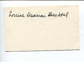 Louise Seaman Bechtel Newbery Medal Award Winner Author Signed Autograph - Author Cut Signatures