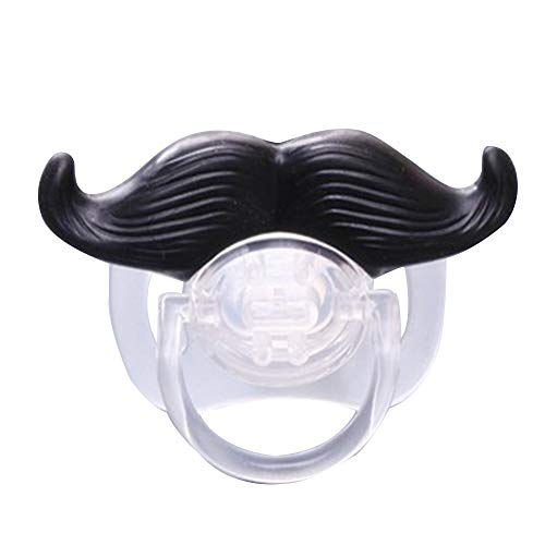 homese Funny Mustache Pacifier Silicone Pacifier Mustache BPA Free for Baby Infant NewbornSilicone Pacifier