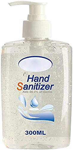 Kitt Refreshing Hand Sanitizer Gel, Washless Hand Soap Gel, 300ML Super-Large Capacity Household Cleaning Gentle Hydrating Hand Sanitizer Soothing Gel,Non-irritating,Pump Bottle (300 ML)