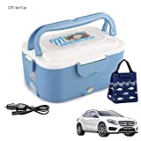 Levoberg Boîte Chauffante Electrique 12 V pour Voiture avec Sac Isotherme de Transport Boîte Chauffante Allume Cigare Bleu