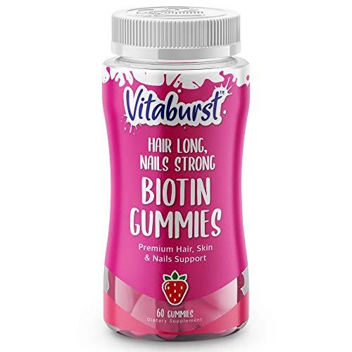 Biotin Gummies - Hair Skin and Nails Vitamins for Kids - Premium Biotin Supplement for Hair Growth, Nails Strengthener, and Healthy Glowing Skin - Vegetarian Vitamin B Complex Gummies-5000 mcg-60ct