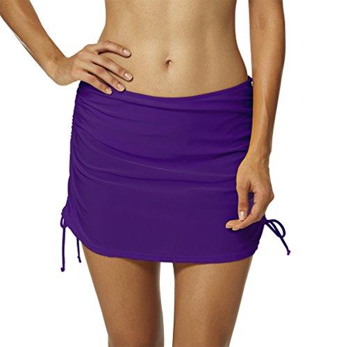 YoungSoul Falda de Bikini para Mujer - Trajes de baño con Falda incorporada - Shorts de baño con Anudada en el Lateral