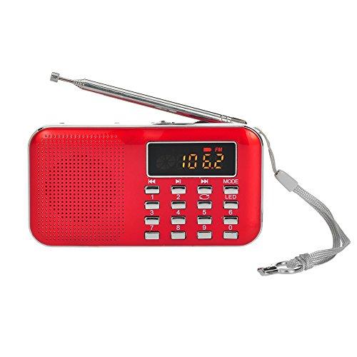 Docooler Radio FM Altoparlanti Portatili FM Radio Portabile con Display LCD Supporto Lettore U Disco e Micro SD Card AUX MP3 Support USB Drive TF Card AUX-in Earphone-out