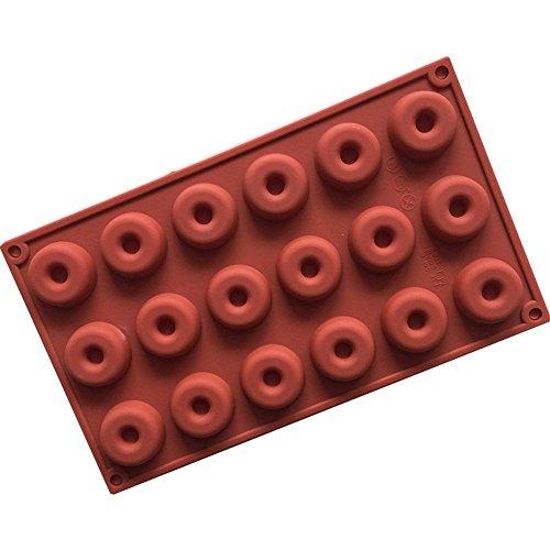 Perfectii Molde De Donut Silicona Torta Molde Fondant Pastel Decoración Hornear Hielo Bandeja Chocolate