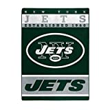 The Northwest Company Officially LicensedNFL New York Jets '12th Man' Plush Raschel Throw Blanket, 60' x 80', Multi Color