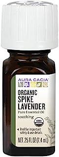 Aura Cacia Organic Essential Oil, Lavender Spike, 0.25 Fluid Ounce
