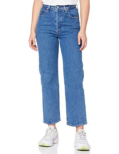 Levi's Womens Ribcage Straight Ankle Jeans, Georgie, 30W / 29L