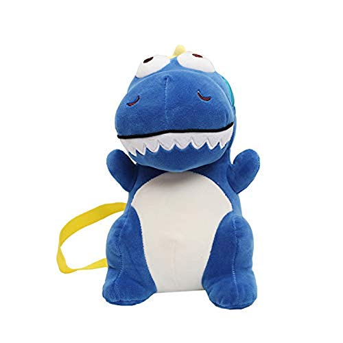 EREL Animales de Felpa Femenina Historieta Linda Muchacha Pequeño Hombro Bolsa Dinosaurio Dinosaurio Mochila Bolsa Bolsa B, Color: Azul Dedu (Color : Blue)