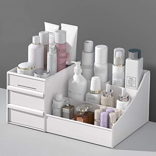 Botes herméticos Maquillaje organizador del cajón Tipo de almacenamiento cosmética Vitrina Caja de almacenamiento de escritorio adecuado for la piel Productos de Cuidado de máscaras faciales de los lá