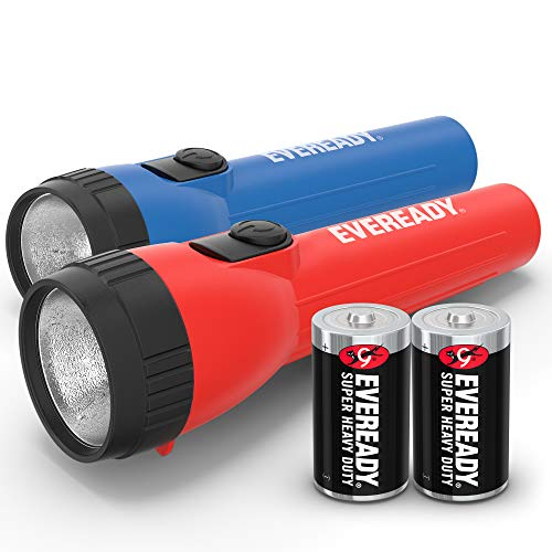 EVEREADY LED Flashlight Multi-Pack, Bright and Durable, Super Long Battery Life, Use for Emergencies, Camping, Outdoor, Batteries Included