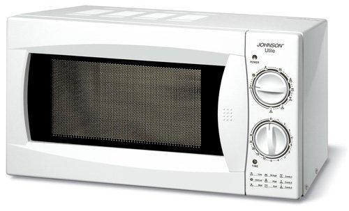 JOHNSON Horno combinado microondas + grill Combo 3 en 1 con asador, 20 l, potencia 700 – 900 W